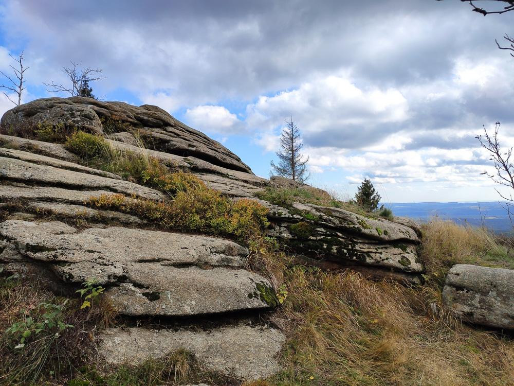 Die Große Wurmbergklippe auf dem Weg zurück nach Braunlage