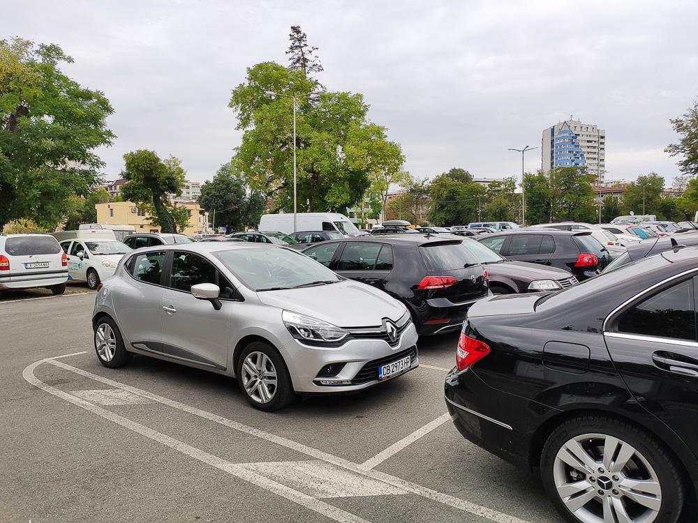 Geparkt haben wir dann auf dem Parkplatz Gurko, relativ zentral in der Stadt und somit praktisch für einen Tagesausflug nach Burgas