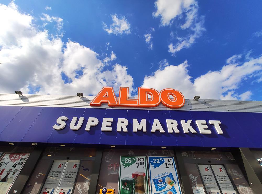 Auf unserem Spaziergang durch Obsor haben wir diesen ALDO Supermarkt gesehen.