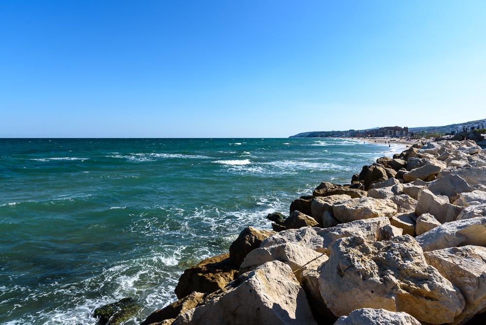 Blick auf das Schwarze Meer nahe dem Hotel Sol Luna Bay