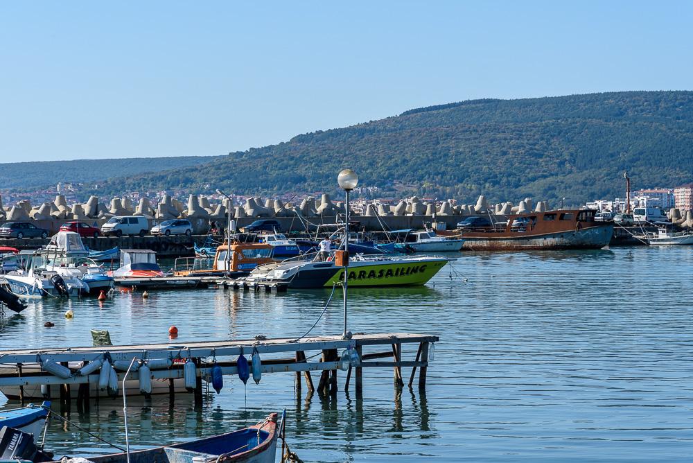 An der Marina Byala, gegenüber unseres Hotels Sol Luna Bay beim Geocaching in Bulgarien