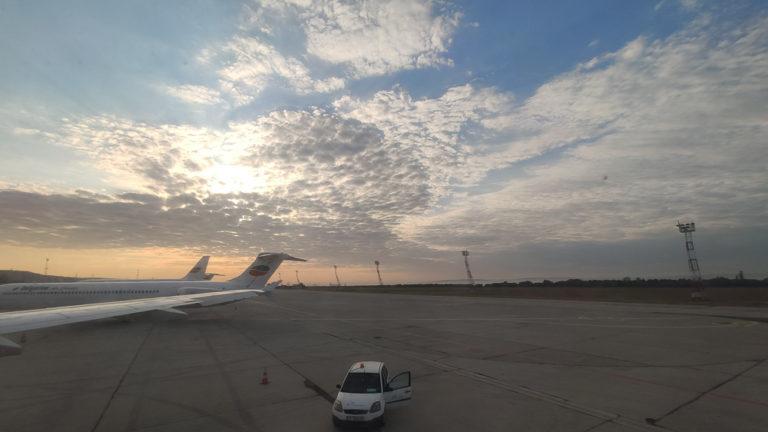 Sonnenaufgang kurz vor dem Rückflug von Varna nach Leipzig