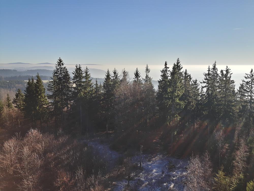 Ausblick von der Spitze des Radspitzturms bei Kronach