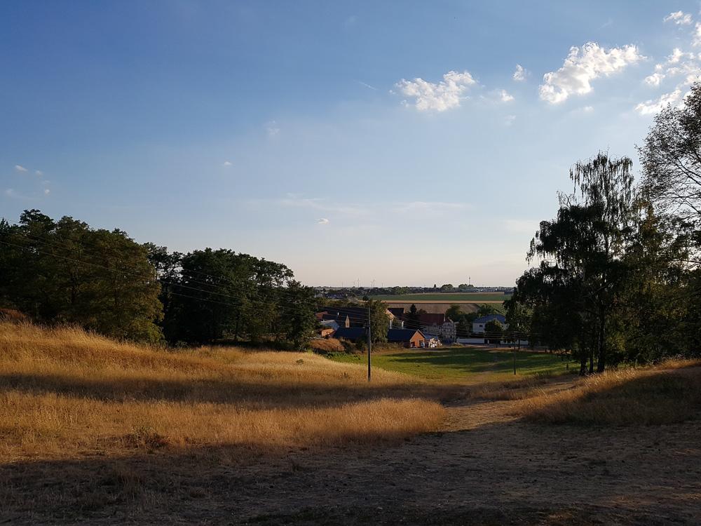Blick vom Wachberg und dem Wasserturm Rückmarsdorf aus in Richtung Westen