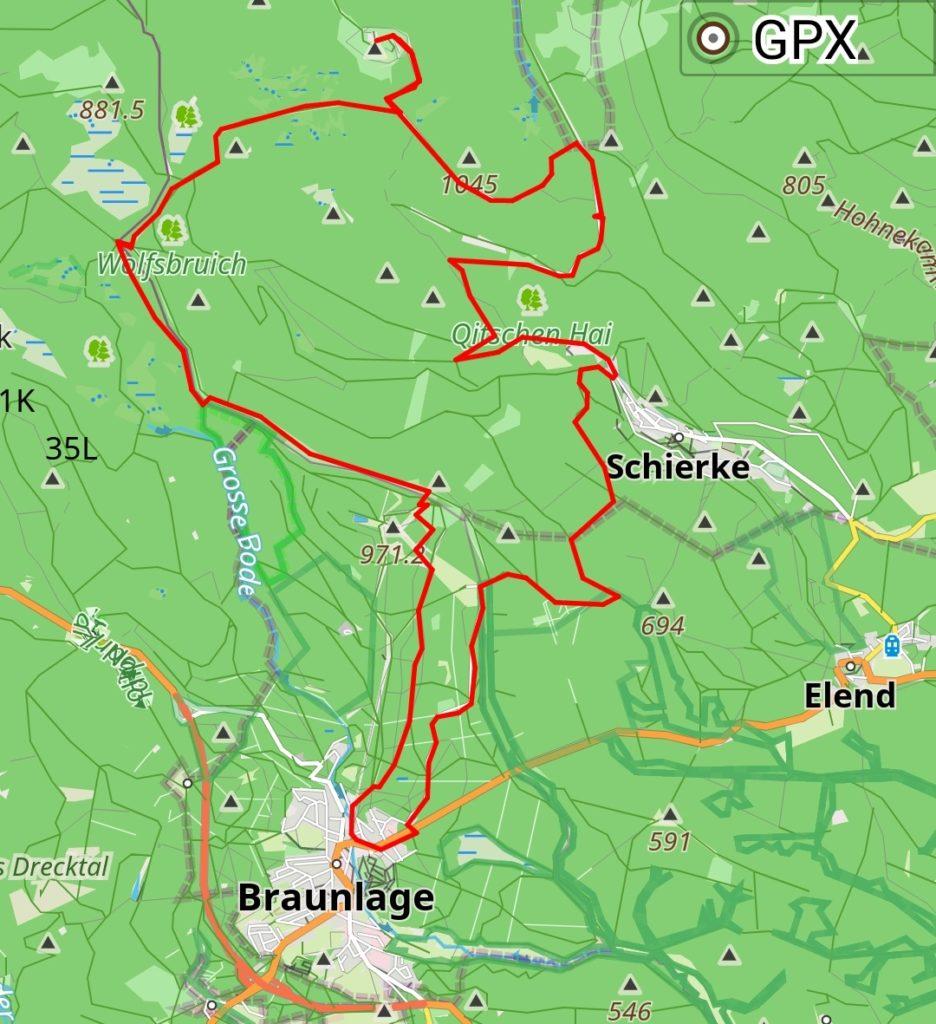 Unsere Tour mit dem E-Bike auf den Brocken und über den Wurmberg zurück nach Braunlage in der Übersicht