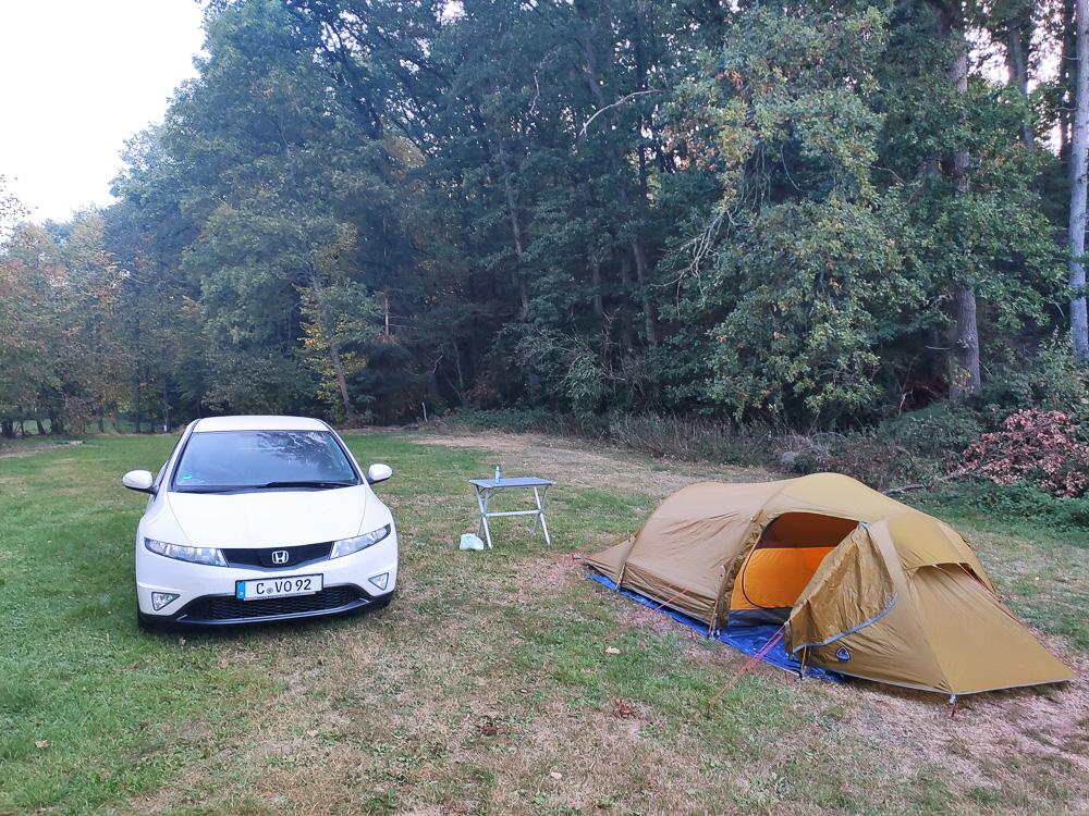 Freie Platzwahl auf den Zeltwiesen des Campingpark Ohmbachsee