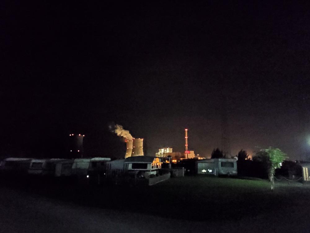 Blick auf das RWE Kraftwerk Westfalen