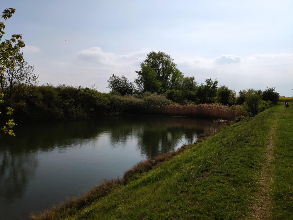 Am westlichen Ende des Elster-Saale-Kanals
