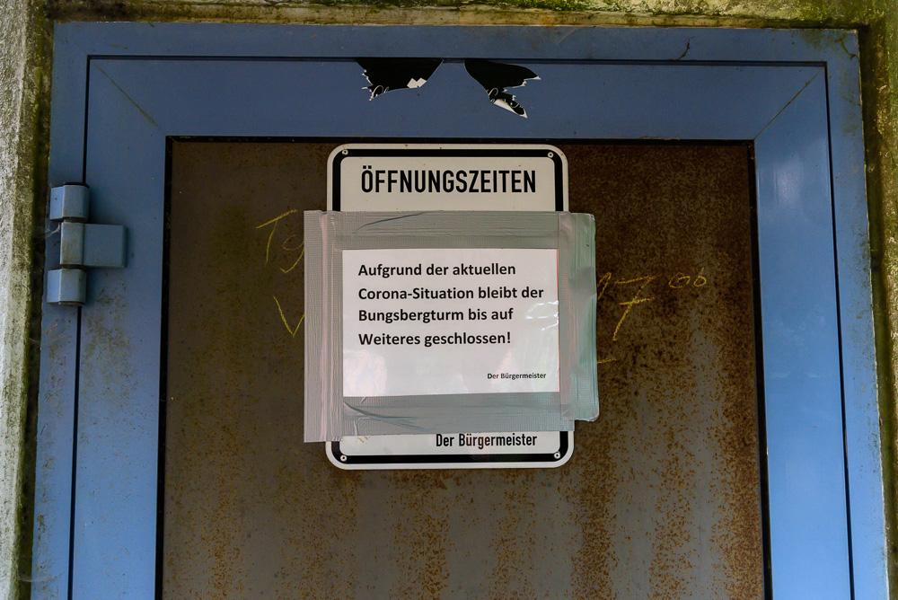 Aufgrund von Corona geschlossen. Die Aussichtstürme am Bungsberg.