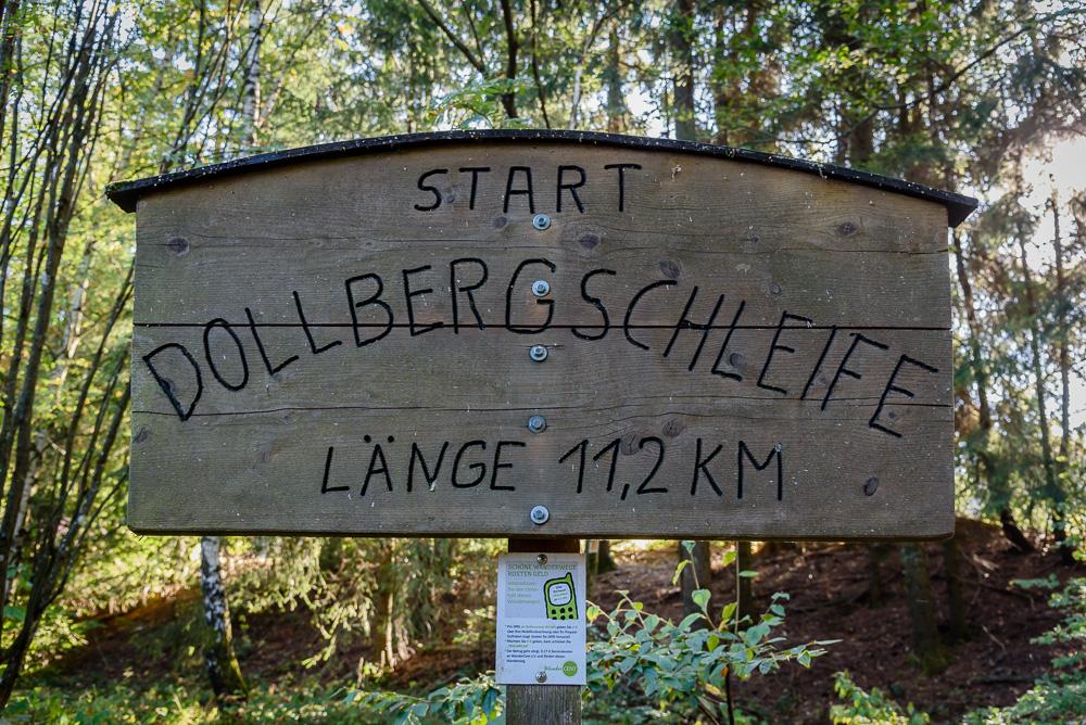 Start der 11,2 Kilometer langen Dollbergschleife