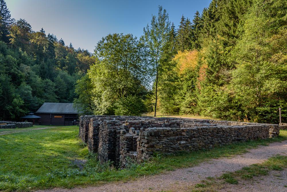 Grundmauern des Züscher Hammer
