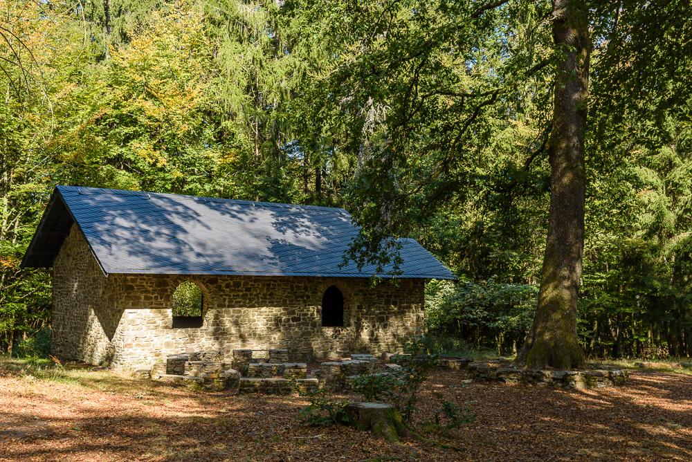 Hütte im Inneren des keltischen Oppidums von Otzenhausen