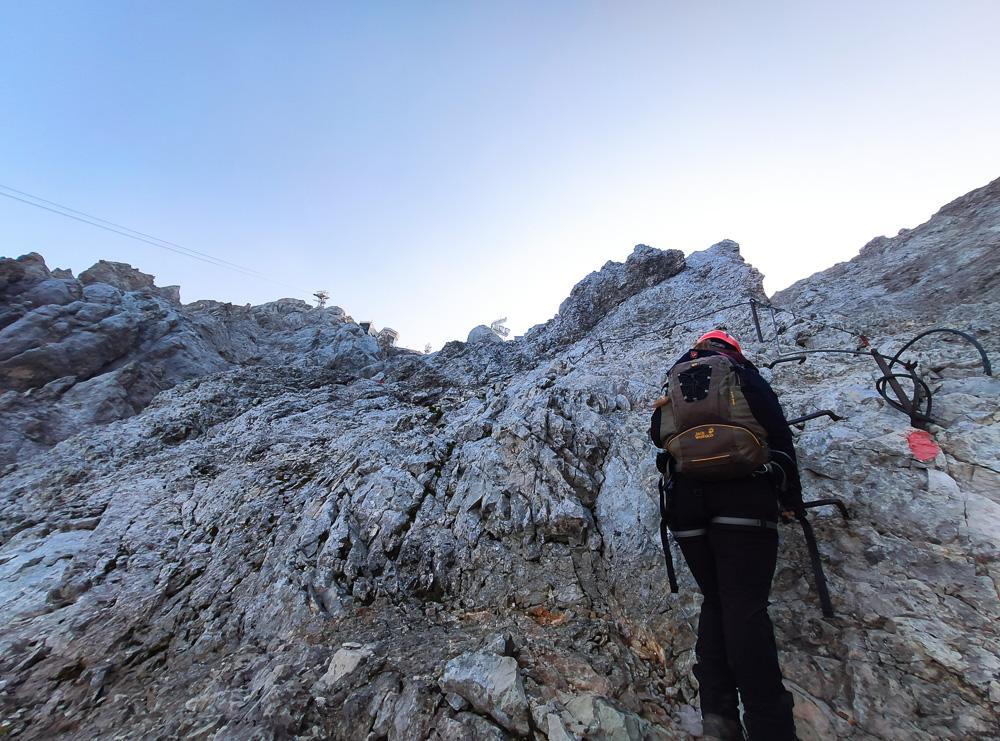 Klettern am Stopselzieher-Klettersteig