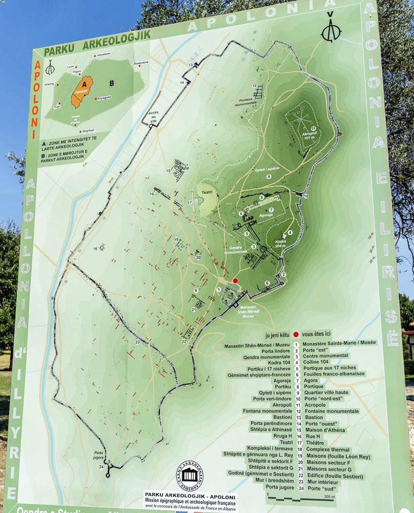 Übersichtsplan der Ruinenstätte Apollonia