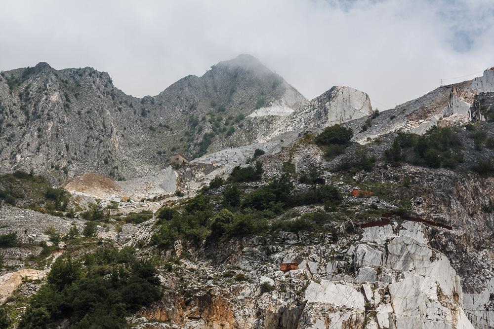 Marmorabbau in Carrara, Italien.