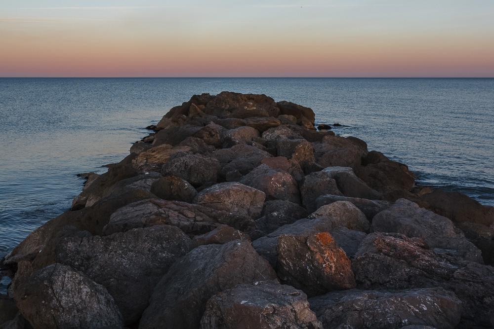 Sonnenuntergang am Strand bei Frontignan