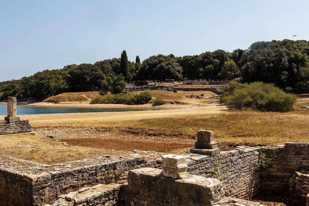 Bei den byzantinischen Ruinen im National Brijuni