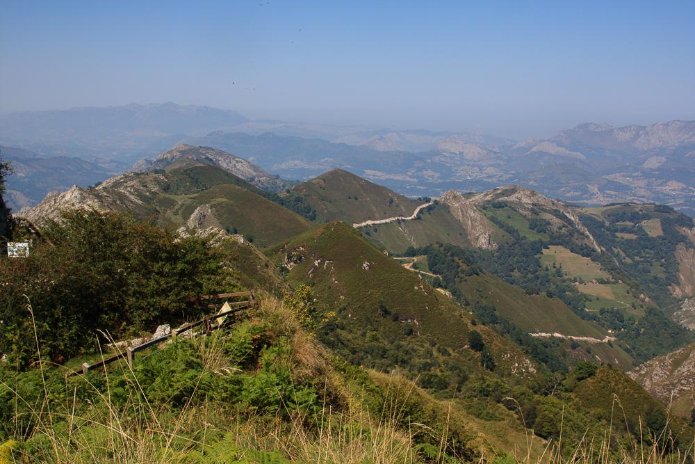 Blick auf die Berge der Picos de Europa