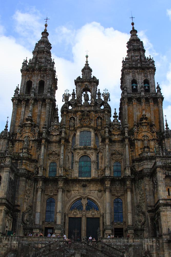 Die berühmte Kathedrale von Santiago de Compostela