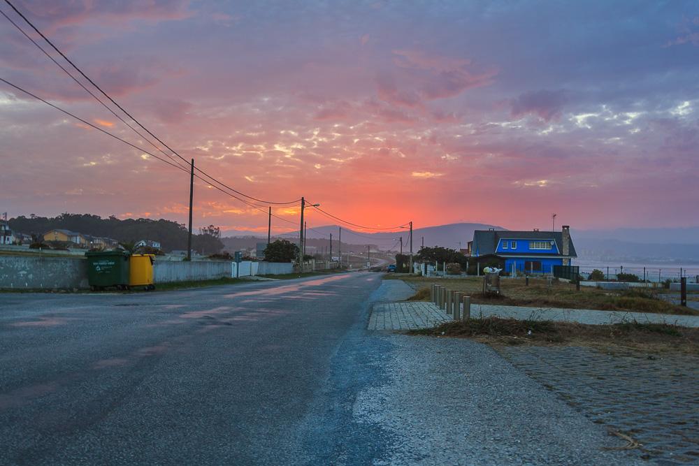 Sonnenuntergang nahe Eido Dourado
