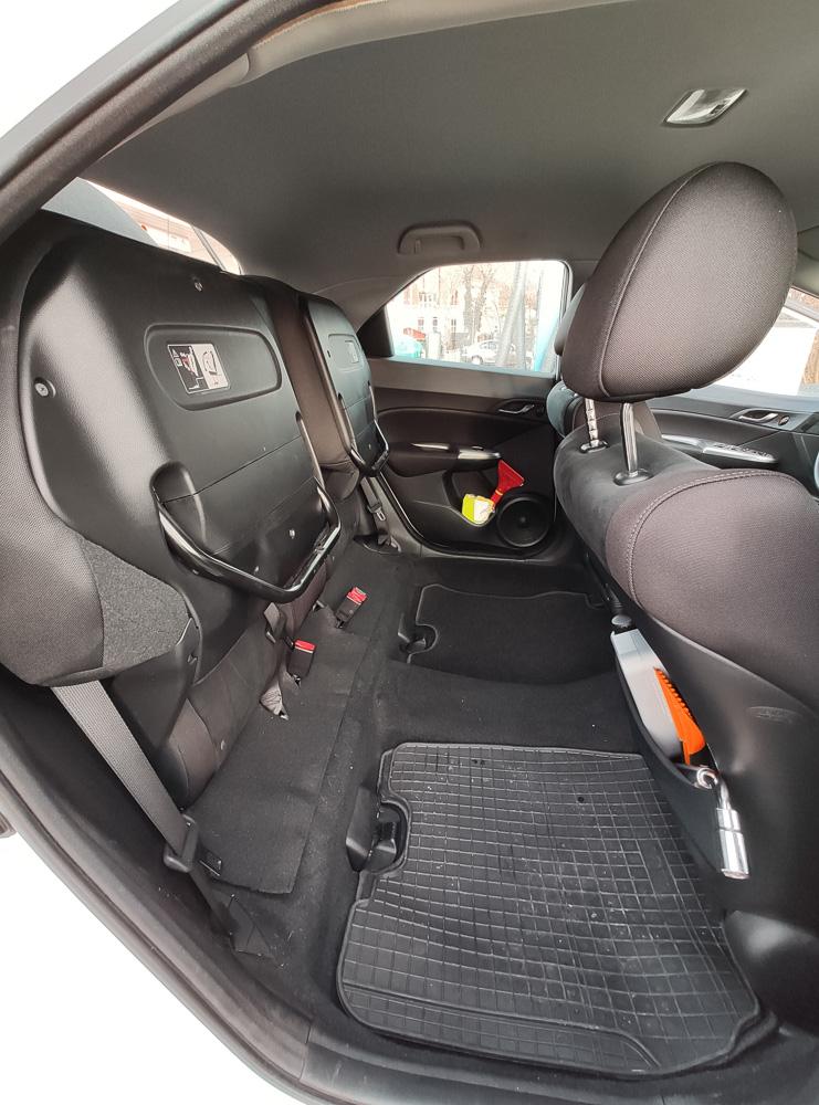 Die praktischen Magic Seats im Honda Civic lassen sich einfach hochklappen wie im Kino