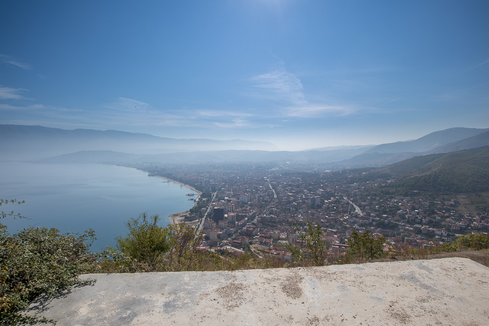 Wir sind der Meinung, dass sich der Aufstieg zu den Burgruinen von Pogradec für diese Aussicht auf alle Fälle mehr als lohnt