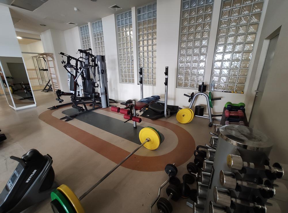 Der kleine Fitnessraum im Hotel Sol Luna Bay. Wir waren mit der Ausstattung zufrieden.