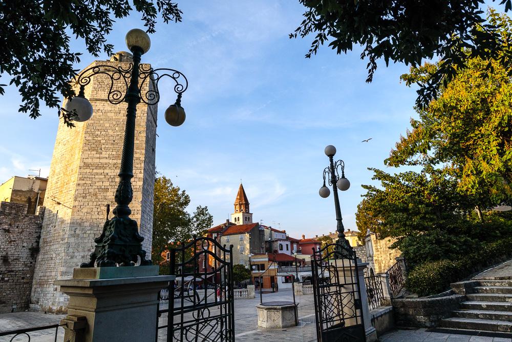 Petar Zoranić Platz in der Altstadt Zadars