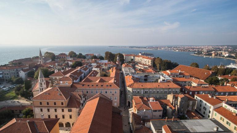 Blick über die Altstadt von Zadar in Richtung Norden