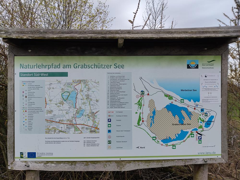Überblick zum Naturlehrpfad am Grabschützer See