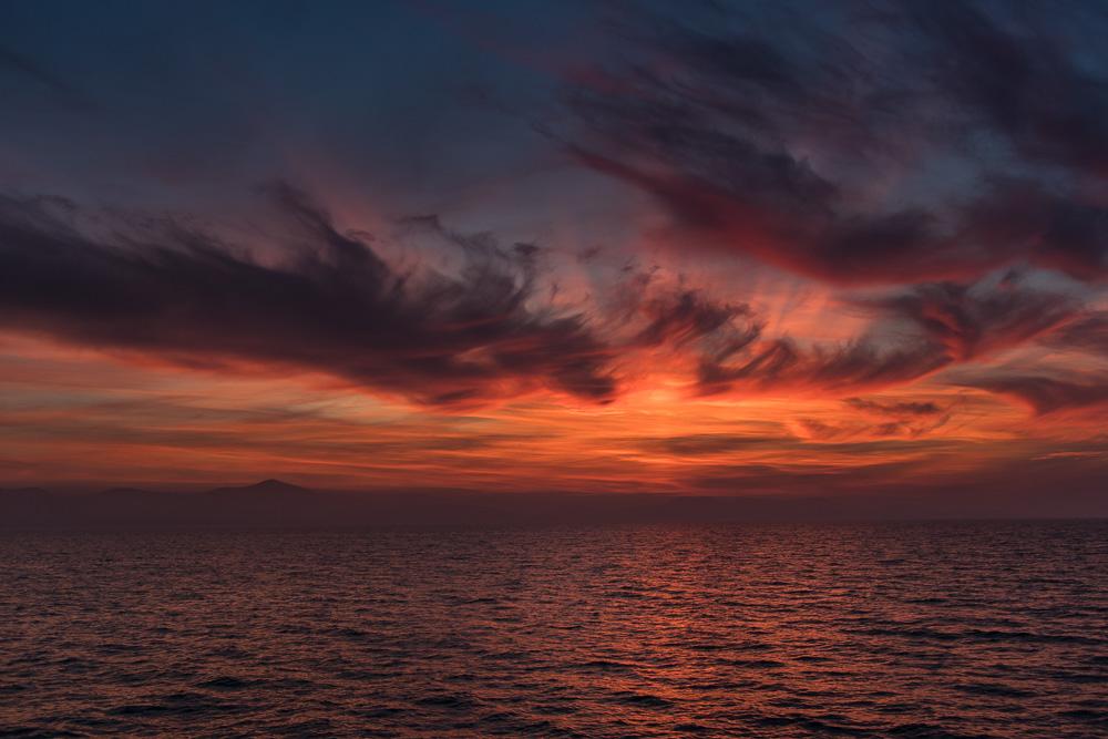 Die Sonnenuntergänge welche man von der Meeresorgel von Zadar aus beobachten kann gehören angeblich mit zu den schönsten Kroatiens. Für uns gehört dieses Bild auf jeden Fall mit zu den Top 3.