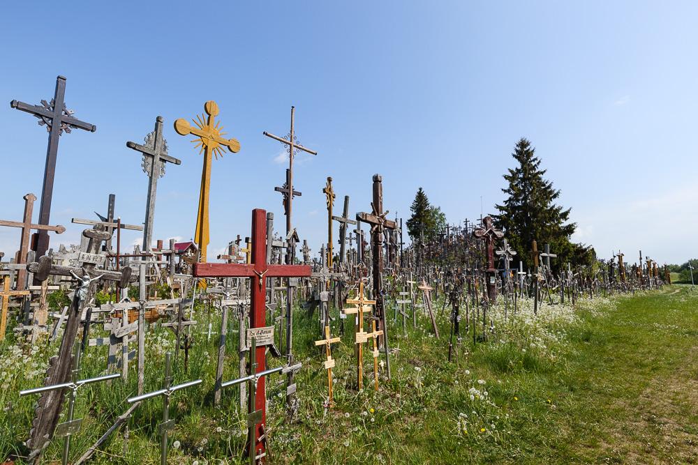 Die Kreuze sind wirklich zu tausenden vorzufinden