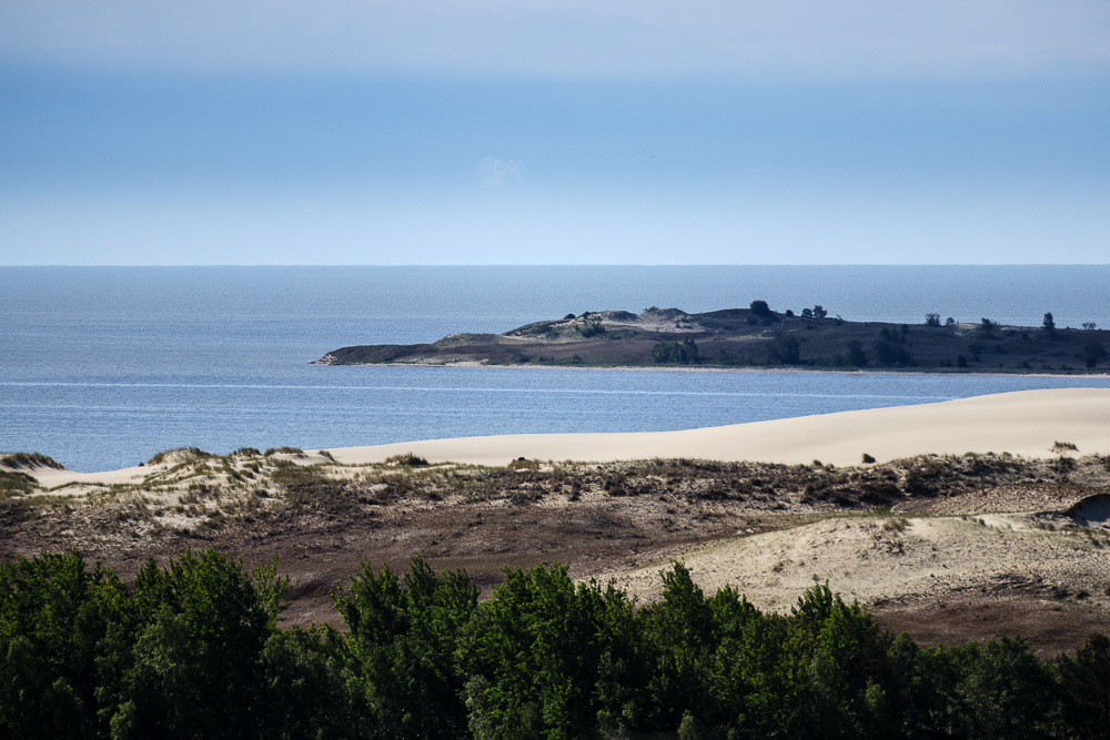 Blick von der Parnidis-Düne auf das Meer