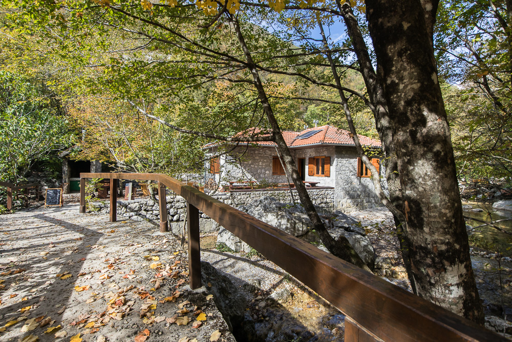 Die Forsthütte Lugarnica im Nationalpark Paklenica