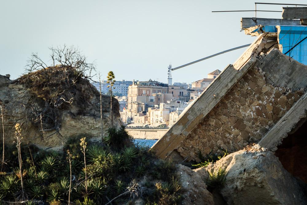Teleaufnahme von Syrakus in Sizilien