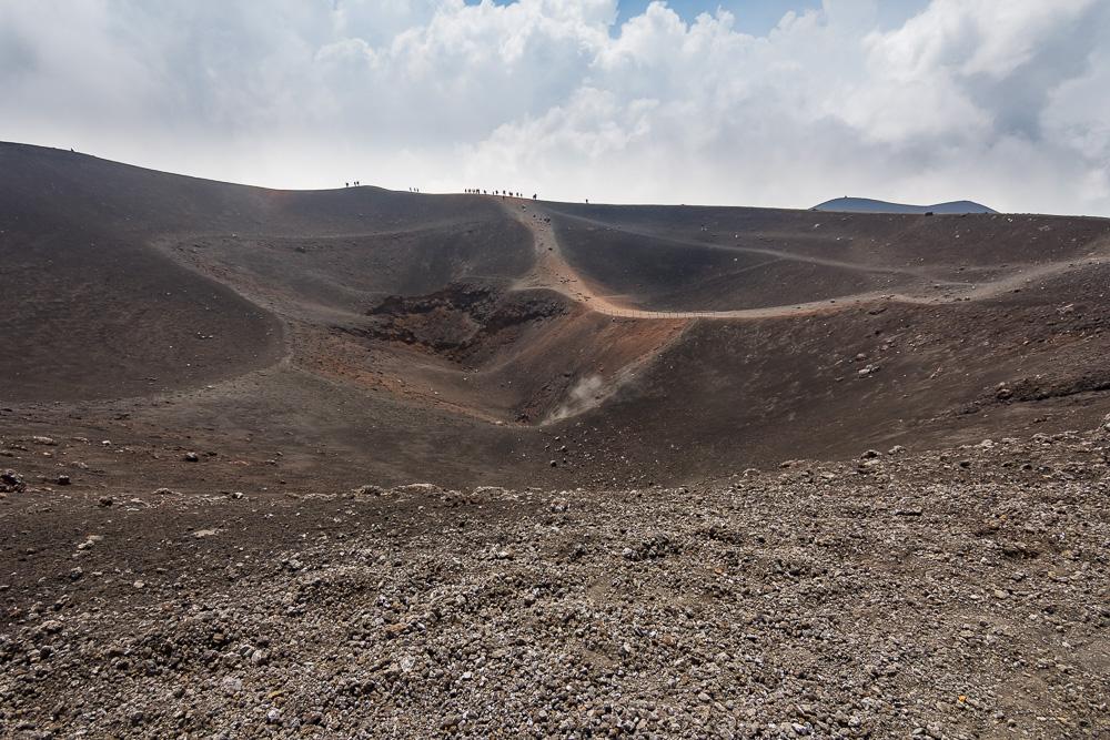 Am Krater des Torre del Filosofo